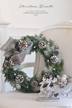 【Christmas Wreath】 スタイルのある暮らし It's FLORAL NEW YORK Style ~暮らしをセンスアップするフラワースタイリングで毎日を心豊かに、心地よく~