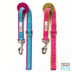 Martha Stewart Pets Pink and Green Houndstooth Dog Leash~48' X 1'~ ** Read more  at the image link.