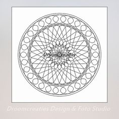instant download 5 mandala art designs for coloring or painting  Color this mandalas yourself! Pdf file with mandala design to print after instant
