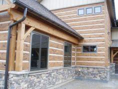 Golden Colorado Residence Profile 16 Hand Hewn Everlog Concrete Log Siding