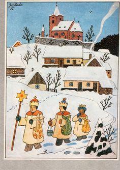 Josef Lada, Christmas card 10 x Czech Republic
