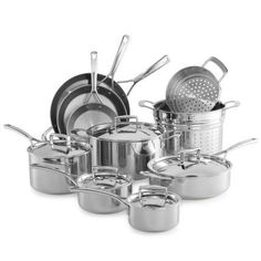 Sur La Table Tri-Ply Stainless Steel 15-Piece Set SLT-0001235 *** You can find more details by visiting the image link.
