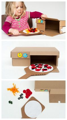 Cardboard Oven Great for those of us with little to no resources, or little ones without man toys.