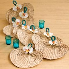 Learn how to make this beautiful embellished raffia fan.