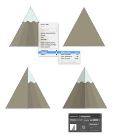 Forming a flat-style shadow on the mountain