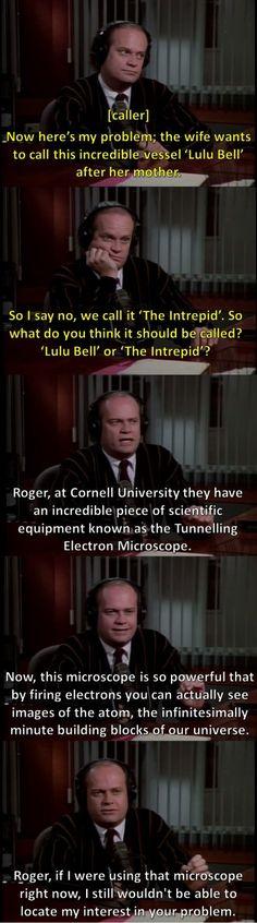 Dr. Frasier Crane is amazing ;)