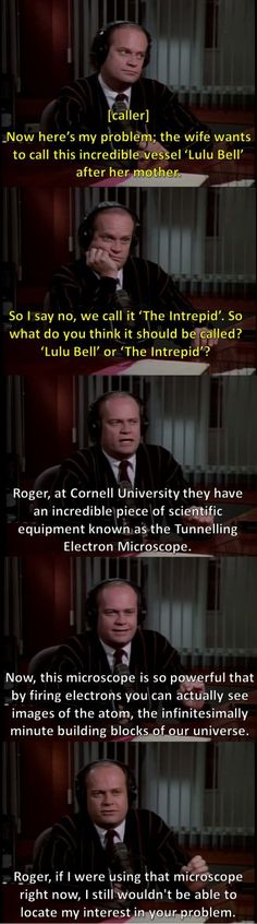 Dr. Frasier Crane is amazing ;)