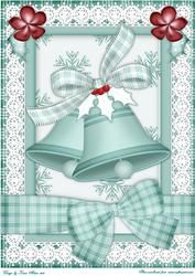 Christmas Bells A4 Card Front In Light Green