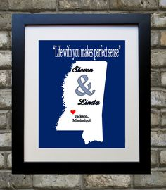 Mississippi Art Map Print ANY Personalized State Art by Picmats