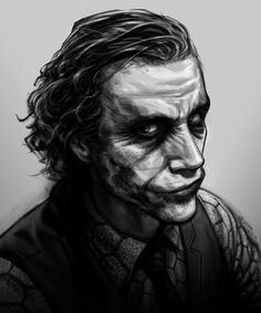 Heath Ledger - The Joker by *patrickbrown