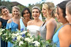 One of Celia's favorite memories of her wedding day was doing a first look with her bridesmaids!