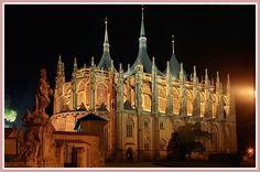 Kutná Hora, St. Barbara Church at night. ®Jerzy Strzelecki