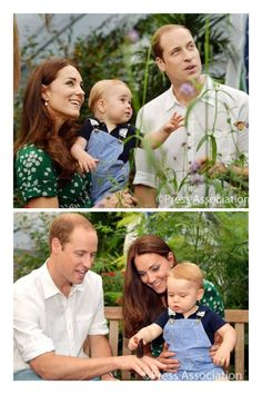 "Watching the butterflies flutter by…  the final two pictures of Prince George with his mother and father, The Duke and Duchess of Cambridge, at the Natural History Museum exhibition ""Sensational Butterflies"". These pictures have been released to celebrate Prince George's first birthday (22 July). ‪#‎HappyBirthdayPrinceGeorge‬"
