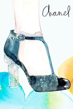 Samantha Hahn Chanel    http://samanthahahn.com/watercolor-ink/nggallery/image/chanel-shoes/