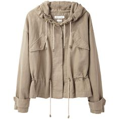 Étoile Isabel Marant gilly drawstring jacket JIM134PS13 (7.925 UYU) ❤ liked on Polyvore featuring outerwear, jackets, tops, coats, brown jacket, etoile--isabel marant jacket and drawstring jacket