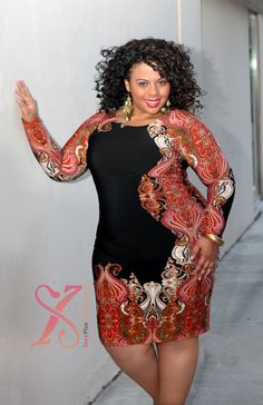 Joseph Ribkoff Series: Tattoo Temple Plus Size Dress - Nice. She looks great. Curvy Girl Fashion, Love Fashion, Plus Size Fashion, Womens Fashion, Petite Fashion, Plus Size Dresses, Plus Size Outfits, Plus Sise, Modelos Plus Size