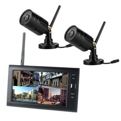 "105.00$  Buy now - http://ali3hp.shopchina.info/1/go.php?t=32816549971 - ""2.4G 4CH QUAD DVR Security CCTV Camera System Digital Wireless Kit Baby Monitor 7"""" TFT LCD Monitor+ 2 Cameras""  #SHOPPING"