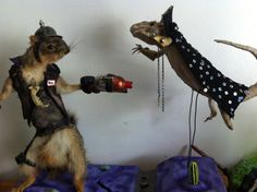 Taxidermy Squirrel Vs Bearded Dragon