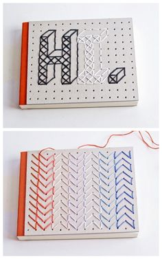 DIY Embroidered Notebook Tutorial from Curious and CatCat. This...
