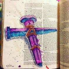 #Matthew #christcrucified #illustratedfaith #illuminatedjournaling #biblejournaling #journalingbible #crossway #bibleart #bible