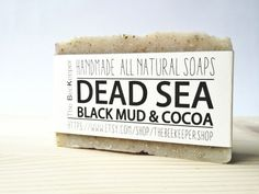 Dead Sea Mud and Cocoa Soap https://www.etsy.com/listing/225412017/dead-sea-mud-soap-cocoa-soap-detox-soap