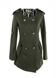 Epaulets Double-breasted jacket for Women