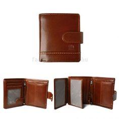 Giorgio Carelli bőr pénztárca mini álló barna csatos RFID védelemmel + díszdoboz