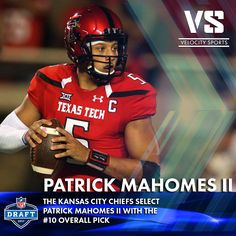 04308adab The Kansas City Chiefs select Patrick Mahomes II with the  10 overall pick .