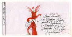 mail art by Binette Schroader Envelope Art, Envelope Design, Children's Book Illustration, Graphic Design Illustration, Collages, Mail Art Envelopes, Art Postal, Decorated Envelopes, Cool Typography