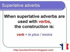 French Lesson 138 - Superlative adverbs in French - French Comparatives and superlatives