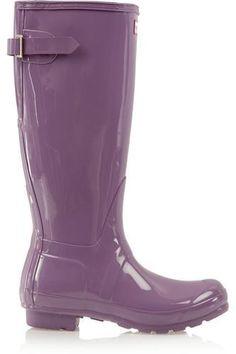 Tall Gloss Wellington boots #wellingtonboots #covetme #hunteroriginal
