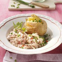 Ofenkartoffel mit Tunfischquark