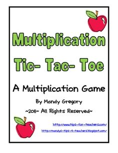 $ This is a math game that uses the tic-tac-toe format to practice multiplication word problems.  It allows students to reinforce basic multiplicatio...