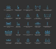 Freebie: Touristic #Icons (100 Icons, PNG, #SVG)