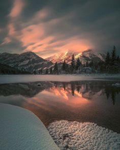 """ A cold winter morning at Crowsnest Lake sentinelphotography "" Belle Image Nature, Beautiful World, Beautiful Places, Nature Verte, Landscape Photography, Nature Photography, Image Hd, Winter Scenery, Jolie Photo"