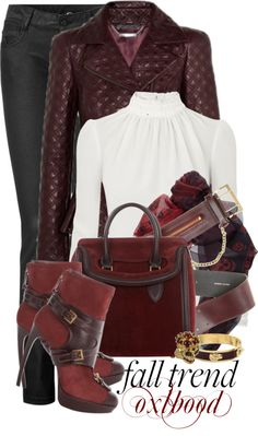 """McQueen Oxblood"" by monchanel on Polyvore"