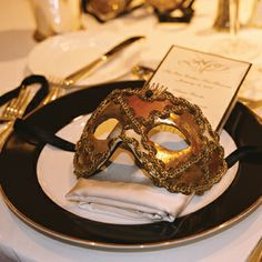 Masquerade masks for fall-halloween themed wedding