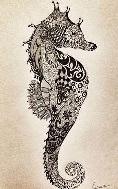 Seahorse tattoo idea