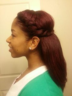 Two strand twist-braid and Luv the Hair Color