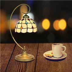 テーブルランプ ティファニーライト ステンドグラスランプ 卓上照明 スタンドライト 1灯 D20cm LTTL246 Retro, Table Lamp, Lighting, Glass, Home Decor, Pintura, Table Lamps, Decoration Home, Drinkware