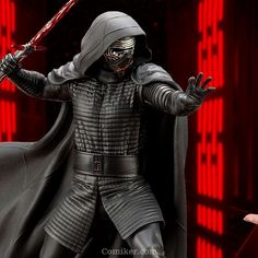 ' Sideshow is pleased to introduce the first Star Wars collectible Premium Format™ Figure from the blockbuster film Star Wars: The Force Awakens - Kylo Ren! This museu Star Wars Comic Books, Star Wars Comics, Star Wars Poster, Star Wars Art, Star Wars Figurines, Star Wars Jewelry, Star Wars Watch, Star Wars Princess Leia, Power Star