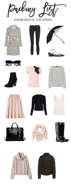 packing list: what to pack for Edinburgh, Scotland in the spring - a small capsule wardrobe that you don't have to be travelling to use as inspiration!
