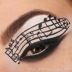 ": ""Eye-C-Music"" Schminkkunst - Eyeliner Eye Makeup Art, Clown Makeup, Eye Art, Costume Makeup, Halloween Makeup, Beauty Makeup, Hair Makeup, Fox Makeup, Devil Makeup"