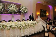 Main table and the veils