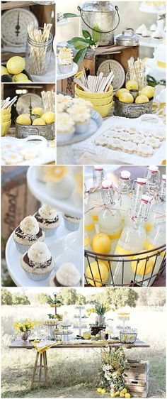 baby shower with lemons/vintage