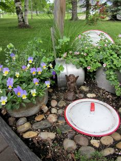 Organized Clutter: Return to the Kitchen Fairy Garden