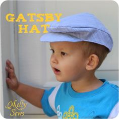 Gatsby Hat with Free Pattern - Melly Sews - http://mellysews.com/2012/09/gatsby-hat-with-free-pattern.html