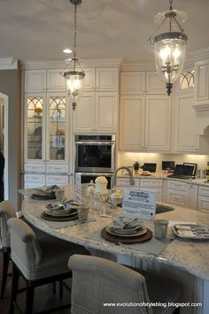 Evolution of Style: Homearama 2013 - House Tour #4. Saw this in person and loved this kitchen!