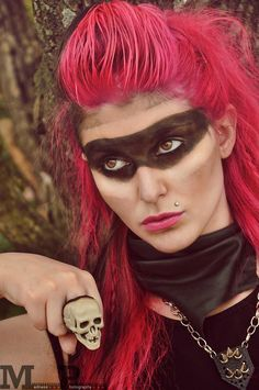 Makeup and jewelry by Tabitha Rachel also inspired by Mad Max.
