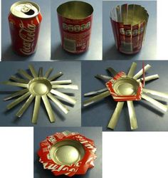 Ashtray made of coca-cola can.